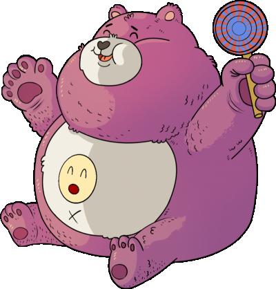 卡通动漫人物设计开心熊