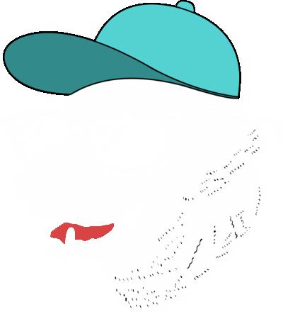 白色帽子酷酷的狗