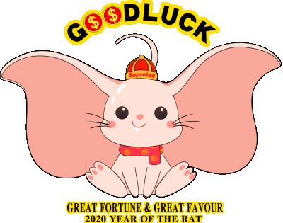 呆萌可爱大耳朵的老鼠