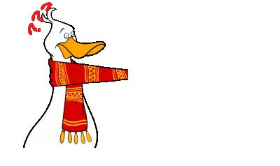 情侣系列创意设计之蒙圈的问号鸭鸭