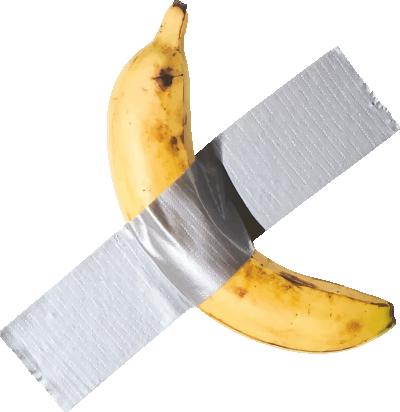 胶带香蕉简约创意设计
